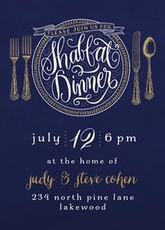 Shabbat Dinner by Laura Bolter Design for Minted.