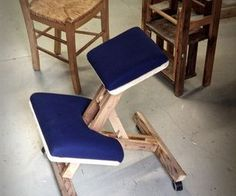 ... projects diy furniture chairs wooden kneeling kneeling chair craft