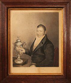 Antique portrait of Tom Cribb, bare-knuckle boxer.