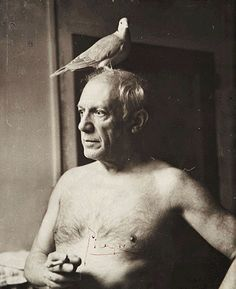 Picasso avec une colombe, Paris 1945 -by James Lord