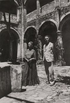 "Frida Kalo with André Breton. ""The art of Frida Kahlo is a ribbon around a… Frida E Diego, Diego Rivera Frida Kahlo, Frida Art, Man Ray, Dada Artists, Mexican Artists, Feminist Art, Arte Popular, Portraits"