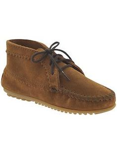 Perfect fall shoes. Minnetonka Moccasin Suede Ankle Boot | Piperlime