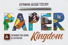 Paper Kingdom For Illustrator by Creative Veila on @creativemarket