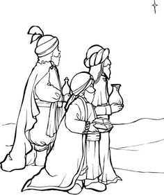 three kings crafts picture to color