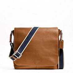 HERITAGE WEB LEATHER MAP BAG - BAGS - The Men's 24 Hour Event