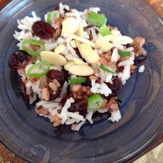 Use your summer crop of rhubarb to make this delicious wild rice rhubarb pilaf with almonds and golden raisins. Wild Rice Pilaf, Rice Pilaf Recipe, Honey And Soy Sauce, Side Dish Recipes, Side Dishes, Rice Recipes, Lunch Recipes, Recipies, Dinner Recipes