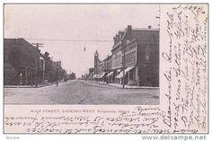 Looking West from Main Street, Hoopeston, Illinois, PU-1906