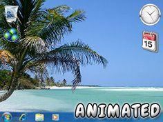 Fondo de Pantalla de Playa Caribeña Animada