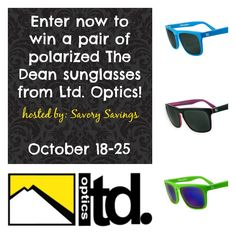 Dean Polarized Sunglasses Giveaway (ends 10/25) USA -gt:  Dean Polarized Sunglasses Giveaway! Sponsored by: Ltd. Optics Hosted by: Savory Savings& Gloriously Green Gal  Protecting your eyes from t... ~  http://www.singlemommies.net/2014/10/dean-polarized-sunglasses-giveaway-ends-1025-usa-gt/