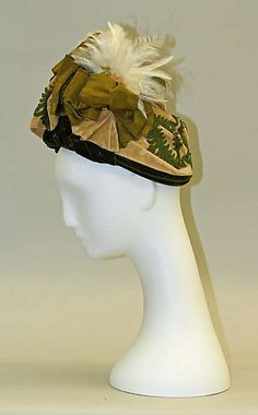 Hat (Toque)    Date:ca. 1887  Culture: French  Medium: wool
