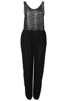 Black Lace Jumspuit Cover Up