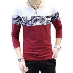 Aliexpress.com  Comprar 2017 Nueva moda casual patchwork camiseta de  algodón a rayas geométrica larga manga larga camiseta o cuello de la  Camiseta de ... 31f82dcdf05