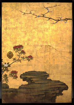 The Old Plum Attributed to Kano Sansetsu (Japanese, 1589–1651)