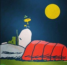 Snoopy Sleeps while Woodstock Keeps Watch at Camp Peanuts Cartoon, Peanuts Snoopy, Snoopy Love, Snoopy And Woodstock, Snoopy Beagle, Camp Snoopy, Beagle Funny, Good Night My Friend, Snoopy Quotes