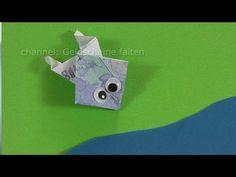 Geldscheine falten Frosch für Geldgeschenke - YouTube