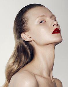Beauty,fashion editorial by David Ferrua,red lips,mua,makeup,
