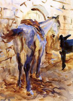 Saddle Horse,Palestine 1905. John Singer Sargent
