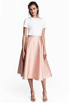 Юбка клеш - Розовая пудра - Женщины | H&M RU 1