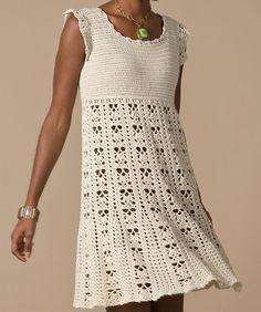 Crochet Dress: free pattern - me gusta el detalle de gajos en la pollera