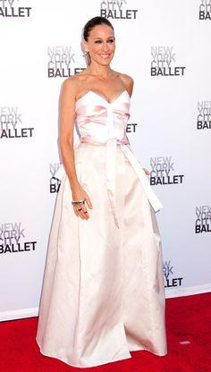 Sara JP Sarah Jessica Parker, City Ballet, Strapless Dress Formal, Formal Dresses, Vogue, Red Carpet Fashion, Dresses For Formal, Formal Gowns, Formal Dress
