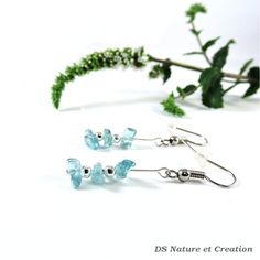 Delicate earrings blue apatite jewelry by DSNatureetCreation https://www.etsy.com/listing/243896034/delicate-earrings-blue-apatite-jewelry