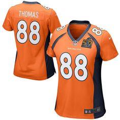 0121dca3bf0 Demaryius Thomas Denver Broncos Nike Women s Super Bowl 50 Game Jersey -  Orange