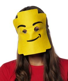 LEGO Person | There's no excuse for not dressing up this October. These clever, simple masks are all you need for a costume—just wear your regular clothes and you'll be set for a festive gathering or trick-or-treating.Crafts developed by Morgan Levine