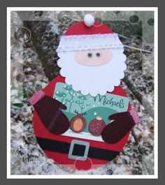 santa gift card holder