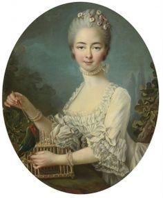 Portrait of a Lady, said to be Mademoiselle de Forges - François-Hubert Drouais - The Athenaeum