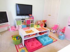 Children's playroom ideas - love the bright colors