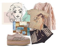 """Indy pinky"" by shiningglassofwater ❤ liked on Polyvore featuring Chicwish, Rafe, Zimmermann and Elise Øverland"