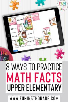 Are practicing math facts in your classroom boring? Are you sick of the boring flashcards & worksheets? This post is for you! Technology is the way to go when practicing math facts now! Find out some fun apps, websites, games and activities to keep your students engaged and learning their math facts. Find activities for addition, subtraction, multiplication & division fact practice. Great for 3rd grade, 4th grade & 5th grade & can be used in the classroom and at home. Elementary Math, Upper Elementary, Math Websites, Fun Apps, Math Strategies, Math Facts, Help Teaching, Math Classroom, 5th Grades