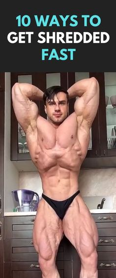 10 Ways To Get Shredded Fast #fitness #bodybuilding #Shredded #workout #fit Shred Workout, Gym Workout Tips, Weight Training Workouts, Workout Exercises, Fitness Exercises, Muscle Fitness, Fitness Tips, Muscle Men, Get Shredded