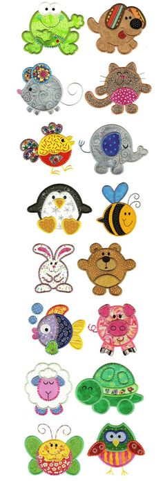 Embroidery | Free Maching Embroidery Designs | Round Up The Critters Applique: