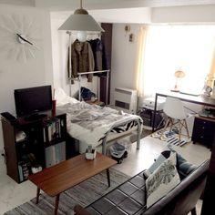 norimasaさんの、照明,男前,一人暮らし,塩系,モノトーン,1DK,学生一人暮らし,部屋全体,のお部屋写真
