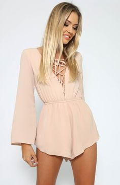 Kingsford Playsuit - Beige