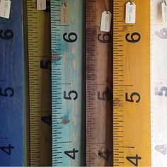 baby  kids  shabby chic wooden growth charts  by CanyonLeaf