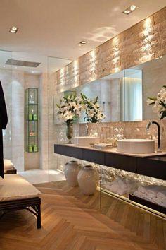 59 Interior Bathroom To Update Your Living Room bathroom banheiro hus lavabo Modern Bathroom Design, Bathroom Interior Design, Bathroom Designs, Diy Interior, Dream Bathrooms, Beautiful Bathrooms, Interior Design Boards, Bathroom Inspiration, Bathroom Ideas