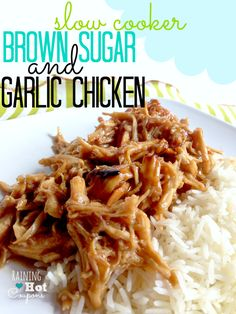Slow Cooker Brown Sugar and Garlic Chicken Recipe - This is SOOO good!!!!