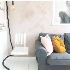 // FRESH // New week. We are lovers of dark interiors but we also like super light spaces. This is a beautiful wall with Fresco lime paint in the colour Skin Powder.   By @kine_hh   #pureandoriginal #naturalpaint #paintmerchants #fresco #limepaint #design #interior123 #interiorinspo #instahome #pinkinterior #skinpowder #texturedsurface #nontoxic #ecofriendly