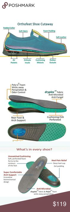 Orthofeet Prospect Park Diabetic Orthopedic Shoes Orthofeet Prospect Park Diabetic Orthopedic Therapeutic Arthritis Size 11 X-Wide  Style 814  Soft, seam-free lining design with extra foam padding offers unsurpassed comfort and protection. Ortho-Step orthotic insole, designed with anatomical arch support and deep heel-seat provides customized support and unsurpassed shock absorption. It offers relief for heel pain and foot discomfort, making every step you take soothing with comfort. ortho…