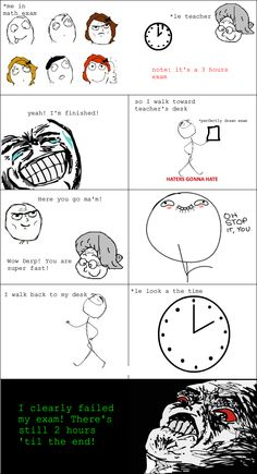 Problem With Being Fast In Exams - Posted in Funny, Troll comics and LOL Images - Entertain Club