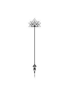 geometric arrow tattoo - perfect for the forearm or wrist