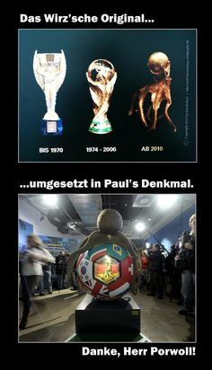 Idea 4 the Design of Paul's urn (Paul was the World Cup 2010 Octopus, who guessed the results ahead) @ Sea World Oberhausen