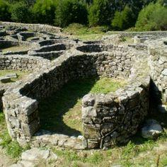 """Celtismo en Galicia - Celt village """"Castro in Porto do Son"""", A CoruNa, Galicia, NW Spain."""