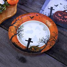 Graveyard Gathering Party Plates - Perfect for a Adult or Teenage party matching tableware and decorations available.