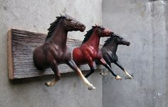 Three Heads Horse Clothing or bridle Rack by EQUINEbyLauren, $176.00