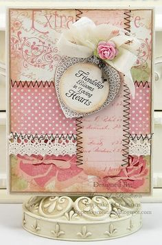 love the quilted background. card by mona pendleton