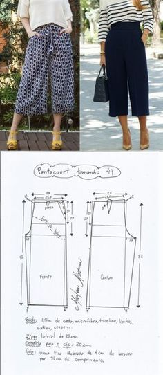 Брюки-кюлоты.Выкройки на размеры 36-56(евро) (Шитье и крой) | Журнал Вдохновение Рукодельницы