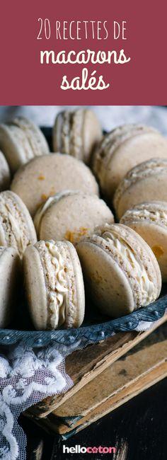 Tomate, chèvre, saumon : 20 recettes de macarons salés ! #recette #idéerecette #macarons #macaronssalés Cheat Meal, Foie Gras, Diy Food, Entrees, Tapas, Buffet, Biscuits, Deserts, Food And Drink